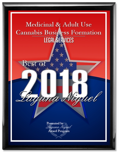 Award 2018 Wolfgang Kovach, Esq., Medicinal & Adult Use Cannabis, Business, selected for the 2019 Edition of Best 2018 Laguna Niguel©